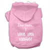 Mirage Pet Products Dear Santa I Went with Naughty Screen Print Pet Hoodies Light Pink Size Sm (10)