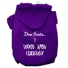 Mirage Pet Products Dear Santa I Went with Naughty Screen Print Pet Hoodies Purple Size Med (12)