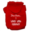 Mirage Pet Products Dear Santa I Went with Naughty Screen Print Pet Hoodies Red Size XS (8)