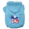 Mirage Pet Products Democrat Screen Print Pet Hoodies Baby Blue Size Lg (14)