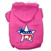 Mirage Pet Products Democrat Screen Print Pet Hoodies Bright Pink Size XS (8)