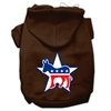Mirage Pet Products Democrat Screen Print Pet Hoodies Brown Size XS (8)