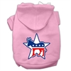 Mirage Pet Products Democrat Screen Print Pet Hoodies Light Pink Size XS (8)