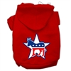 Mirage Pet Products Democrat Screen Print Pet Hoodies Red Size Sm (10)
