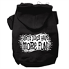 Mirage Pet Products Dirty Dogs Screen Print Pet Hoodies Black Size XS (8)