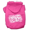 Mirage Pet Products Dirty Dogs Screen Print Pet Hoodies Bright Pink Size Sm (10)