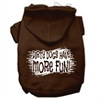 Mirage Pet Products Dirty Dogs Screen Print Pet Hoodies Brown Size Sm (10)
