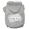 Mirage Pet Products Dirty Dogs Screen Print Pet Hoodies Grey Size XXXL (20)