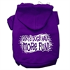 Mirage Pet Products Dirty Dogs Screen Print Pet Hoodies Purple Size XS (8)