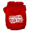 Mirage Pet Products Dirty Dogs Screen Print Pet Hoodies Red Size Med (12)