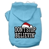 Mirage Pet Products Don't Stop Believin' Screenprint Pet Hoodies Baby Blue Size XS (8)