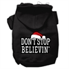 Mirage Pet Products Don't Stop Believin' Screenprint Pet Hoodies Black Size XS (8)