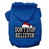 Mirage Pet Products Don't Stop Believin' Screenprint Pet Hoodies Blue Size XS (8)
