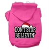 Mirage Pet Products Don't Stop Believin' Screenprint Pet Hoodies Bright Pink Size XS (8)