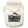 Mirage Pet Products Don't Stop Believin' Screenprint Pet Hoodies Cream Size S (10)