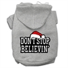 Mirage Pet Products Don't Stop Believin' Screenprint Pet Hoodies Grey Size XL (16)