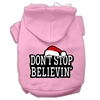 Mirage Pet Products Don't Stop Believin' Screenprint Pet Hoodies Light Pink Size XS (8)