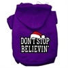 Mirage Pet Products Don't Stop Believin' Screenprint Pet Hoodies Purple Size XS (8)