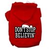 Mirage Pet Products Don't Stop Believin' Screenprint Pet Hoodies Red Size S (10)