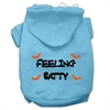 Mirage Pet Products Feeling Batty Screen Print Pet Hoodies Baby Blue Size XS (8)
