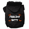 Mirage Pet Products Feeling Batty Screen Print Pet Hoodies Black Size XL (16)