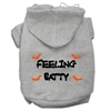 Mirage Pet Products Feeling Batty Screen Print Pet Hoodies Grey Size XL (16)