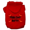 Mirage Pet Products Feeling Batty Screen Print Pet Hoodies Red Size XL (16)