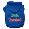 Mirage Pet Products Feliz Navidad Screen Print Pet Hoodies Blue XS (8)