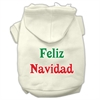 Mirage Pet Products Feliz Navidad Screen Print Pet Hoodies Cream Size M (12)