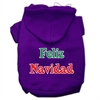 Mirage Pet Products Feliz Navidad Screen Print Pet Hoodies Purple M (12)