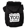 Mirage Pet Products You Go Fetch Screen Print Pet Hoodies Black Size XL (16)