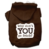 Mirage Pet Products You Go Fetch Screen Print Pet Hoodies Brown Size XS (8)