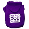 Mirage Pet Products You Go Fetch Screen Print Pet Hoodies Purple Size XS (8)