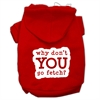 Mirage Pet Products You Go Fetch Screen Print Pet Hoodies Red Size Sm (10)