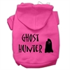 Mirage Pet Products Ghost Hunter Screen Print Pet Hoodies Bright Pink with Black Lettering Sm (10)