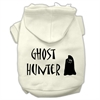 Mirage Pet Products Ghost Hunter Screen Print Pet Hoodies Cream with Black Lettering Med (12)