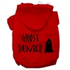 Mirage Pet Products Ghost Hunter Screen Print Pet Hoodies Red with Black Lettering Med (12)
