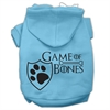 Mirage Pet Products Game of Bones Screenprint Dog Hoodie Baby Blue XS (8)