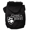 Mirage Pet Products Game of Bones Screenprint Dog Hoodie Black XXL (18)