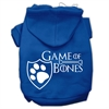 Mirage Pet Products Game of Bones Screenprint Dog Hoodie Blue XS (8)