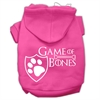 Mirage Pet Products Game of Bones Screenprint Dog Hoodie Bright Pink XXXL(20)