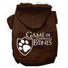 Mirage Pet Products Game of Bones Screenprint Dog Hoodie Brown XS (8)