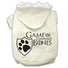 Mirage Pet Products Game of Bones Screenprint Dog Hoodie Cream XXXL(20)