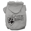 Mirage Pet Products Game of Bones Screenprint Dog Hoodie Grey XXXL(20)