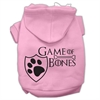 Mirage Pet Products Game of Bones Screenprint Dog Hoodie Light Pink XS (8)