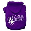 Mirage Pet Products Game of Bones Screenprint Dog Hoodie Purple XXXL(20)