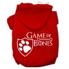 Mirage Pet Products Game of Bones Screenprint Dog Hoodie Red L (14)