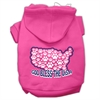 Mirage Pet Products God Bless USA Screen Print Pet Hoodies Bright Pink Size XXXL(20)
