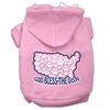 Mirage Pet Products God Bless USA Screen Print Pet Hoodies Light Pink Size L (14)