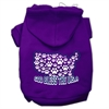 Mirage Pet Products God Bless USA Screen Print Pet Hoodies Purple Size S (10)